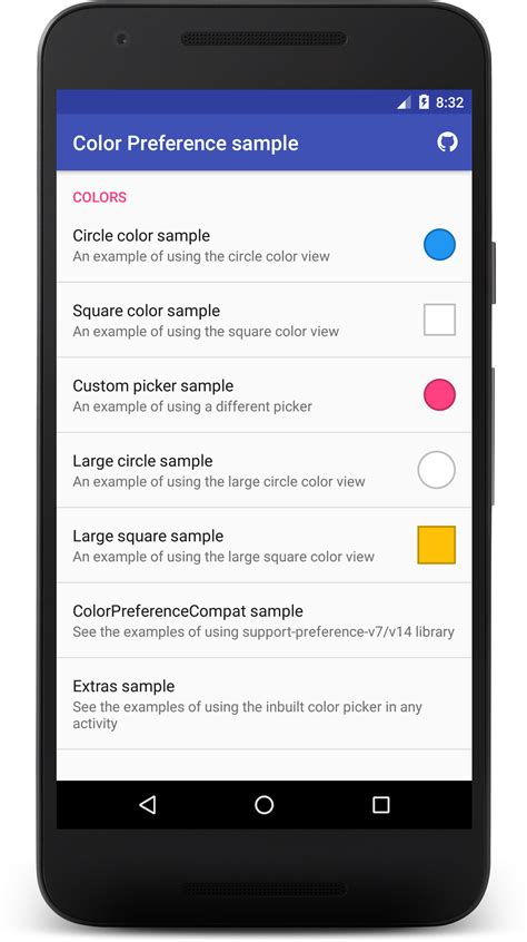 android preferences github kizitonwose colorpreference a custom preference item for easy implementation of a