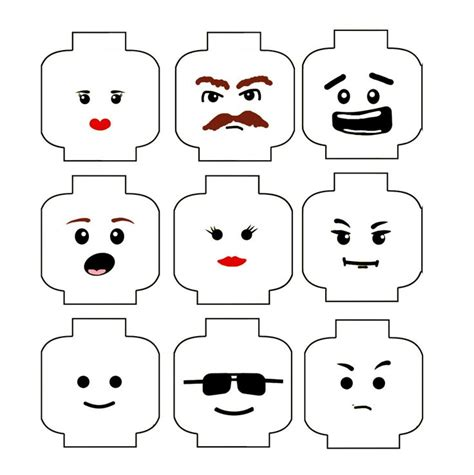 Lego Template 25 best ideas about lego faces on lego