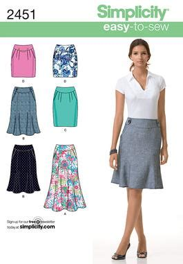 pattern review uk simplicity 2451 misses skirts