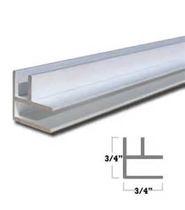 wgsonline satin anodized aluminum mirror corner extrusion