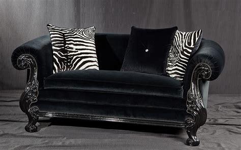 divani classici in stile divano stile new barocco laccato nero idfdesign