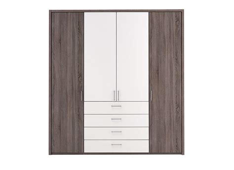 Wardrobes For Sale Melbourne by Melbourne 4 Door Combi Hinged Wardrobe Oak And White