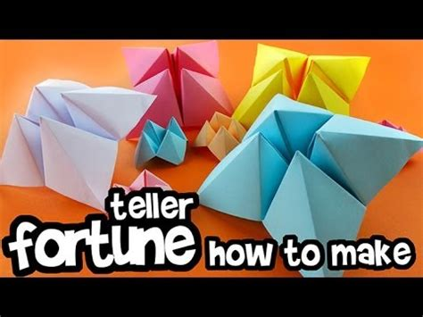 How To Make A Out Of Paper - how to make paper fortune teller