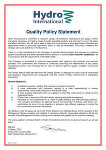 policy template exles best photos of quality policy statement quality policy