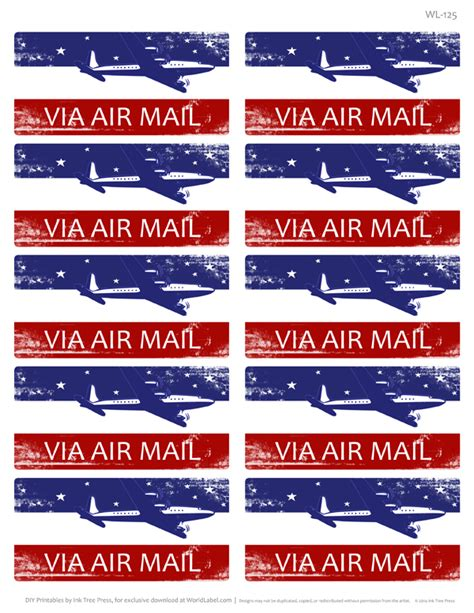 printable airmail stickers par avion international address mailing label set