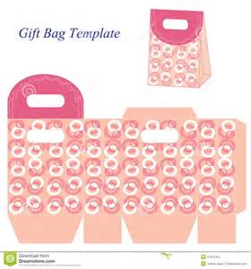 Gift Bag Template by Pink Gift Bag Template With Circles Vector Illustration