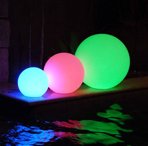 led pool lights led pool balls illuminated floating pool goglow