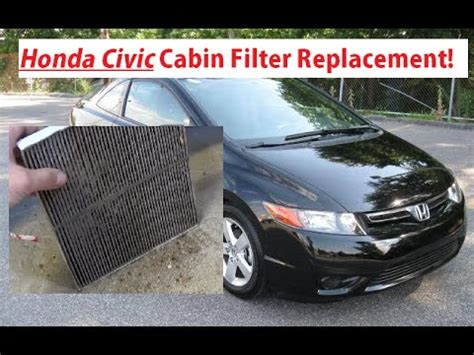 honda civic cabin air filter replacement and location 2006