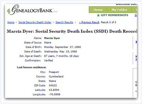 Ssdi Index Records Genealogy Mystery Solved When Dates Don T Agree Check Your Facts