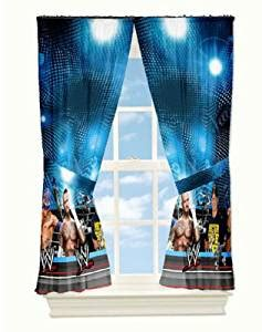 wwe bedding and curtains wwe curtains window panels arena the pair measures 82