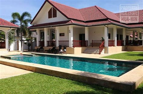 house for sale on showroom condition swimming pool house for sale hua hin prhh8312