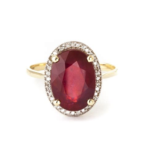 Ruby 7 9ct ruby halo ring 7 93 ctw in 9ct gold 4893y qp jewellers