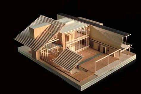 unique house architecture design with wooden material in architectural model ms chang s art classes