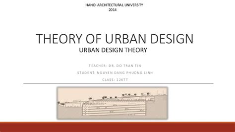 theory of layout theory of urban design