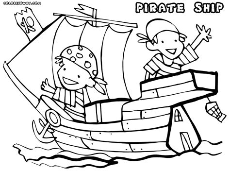 Pirate Ship Coloring Page by Pirate Ship Coloring Pages For Sketch Coloring Page