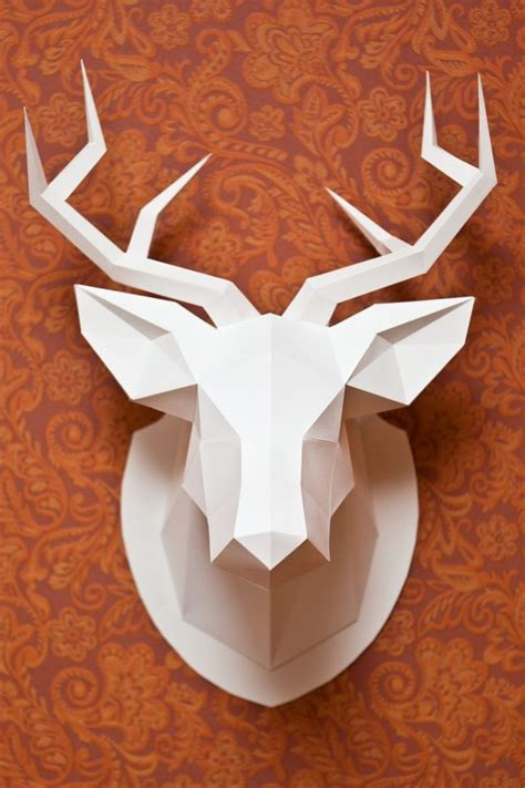 Papercraft Deer - 3d wall mounted deer decoration
