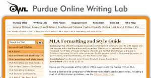 Purdue university online writing lab owl