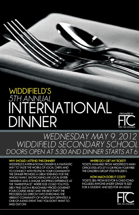 widdifield s 5th annual international dinner to benefit - Dinner Poster