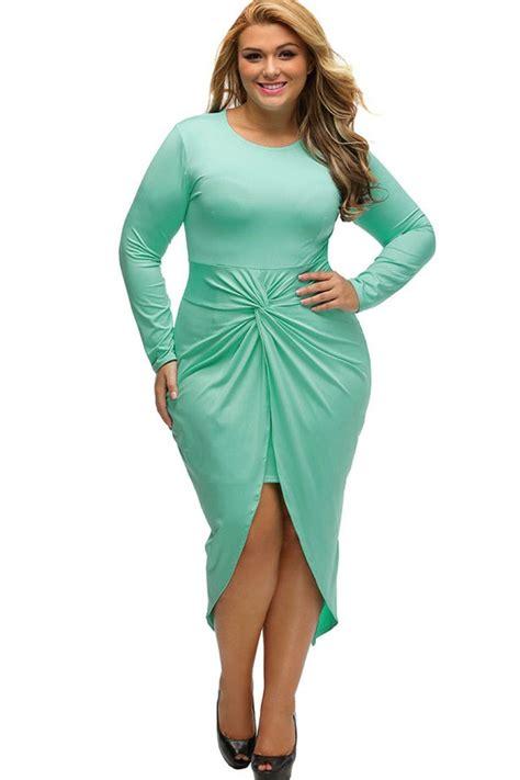 plus size light green dress light green twisted plus size dress 029068