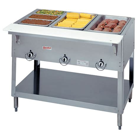 restaurant steam tables duke 303 aerohot gas food table stationary 3 44 3 8 quot w
