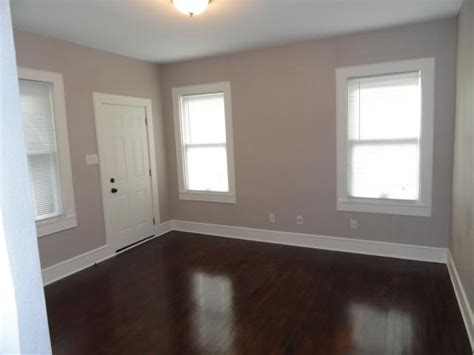 taupe painted rooms white walls with wood floors