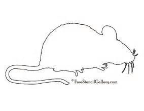 mouse silhouette template mouse silhouette stencil free stencil gallery