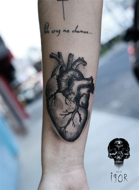 anatomically correct heart tattoo arm anatomical yeahtattoos