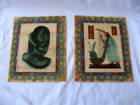 egyptian papyrus paper greeting card pharaoh designs ebay