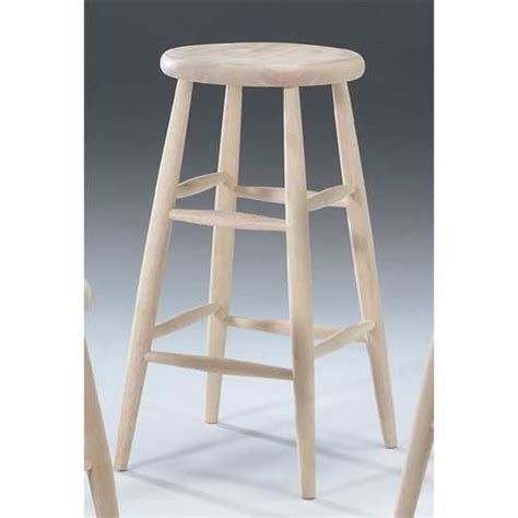 30 Inch Wood Bar Stools 30 Inch Unfinished Wood Scooped Seat Stool International