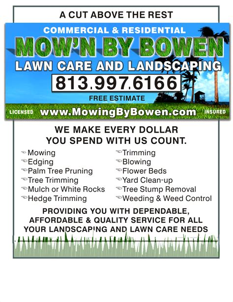 lawn care flyer ideas inspirational 15 lawn care flyers free