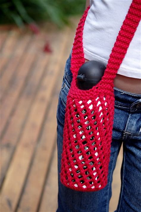 water bottle holder pattern free pattern this knitted water bottle holder is