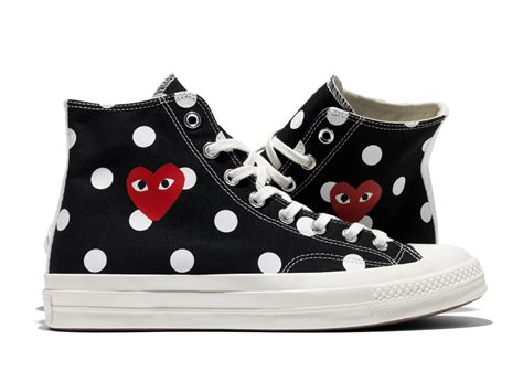 Kaos Cdg Converse Logo Kaos Cdg Converse Cdg Converse comme des gar 231 ons play x converse chuck all 70 polka dot sneakers bagaholicboy