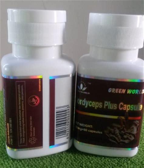 Obat Batuk Perokok Green World Cordyceps Plus Capsule obat tenggorokan terasa berdarah