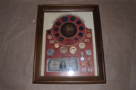 20th Century Coins Framed by Framed Bicentennial Collection 18th 19th 20th