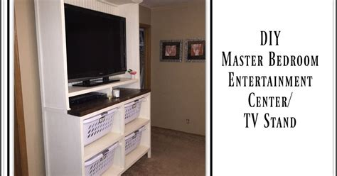 Diy Tv Stand For Bedroom Diy Dual Purpose Bedroom Entertainment Center Tv Stand