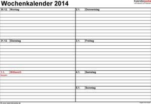 Vorlage Word Tagebuch Wochenkalender 2014 Als Word Vorlagen Zum Ausdrucken