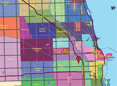 chicago map with neighborhoods neighborhoods in chicago map with streets images