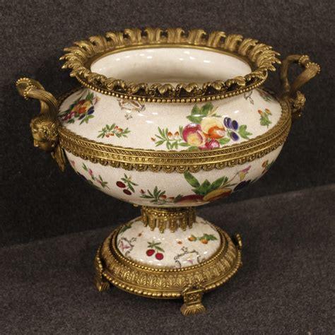 vasi capodimonte antichi vaso coppa in ceramica bronzo stile antico collezione
