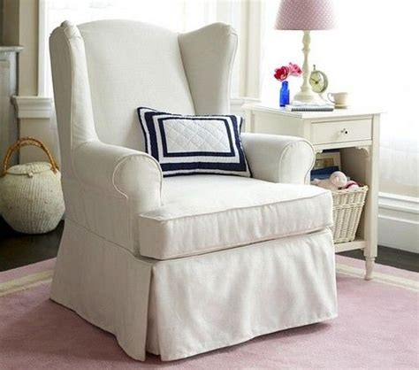 Wing Chair Slipcover by Wingback Chair Slipcovers White Living Rooms
