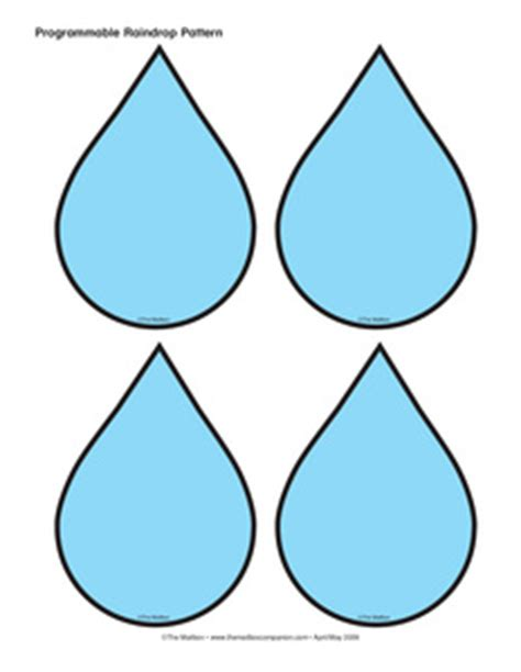 printable raindrop template raindrop printable template clipart best