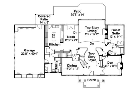 colonial home floor plans colonial house plans roxbury 30 187 associated designs