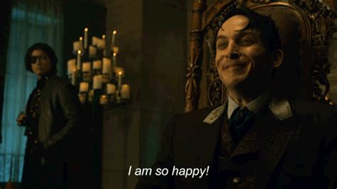 so i am glad series 1 happy oswald cobblepot gif by gotham find on giphy