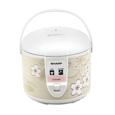 Jual Rice Cooker Sharp Ks A18ttr jual sharp ks r18ms br rice cooker 1 8 l harga