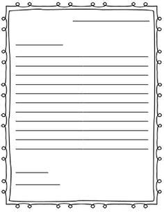 friendly letter writing paper printables on writing papers free printable