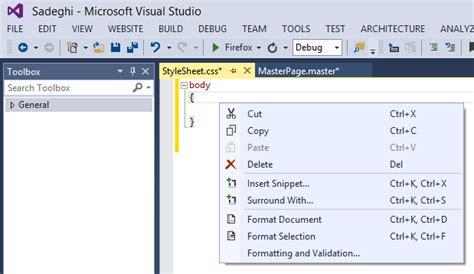 design menu bar in asp net c build style item not exist in context menu in
