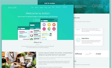 free landing page templates for free bootstrap html responsive landing page template for
