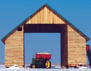 building a corn crib from 1915 farm farm collector