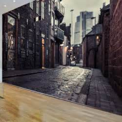 Wall Mural Printing 3d Europe S Streets Mural Wallpaper City Buildings Full