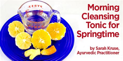 Morning Cleanse Detox by Morning Cleansing Tonic For Springtime Morrocco Method