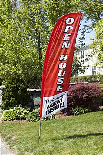 real estate open house flags realtor banner feather flag for open houses